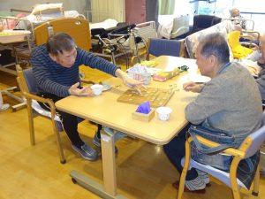 ポイント事業の方と将棋